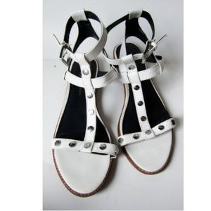 Rebecca Minkoff White T Strap Sandals Size 8M